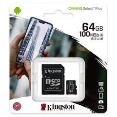 SDXC  512GB  Kingston Class 10 UHS-I U3 V10 Canvas Select Plus (100 Mb/s)