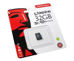 MicroSD  32GB  Kingston Class 10 Canvas Select UHS-I U1 (80 Mb/s) без адаптера