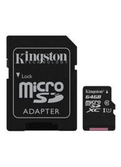 MicroSD  64GB  Kingston Class 10 Canvas React UHS-I U3 V30 (100/80 Mb/s) без адаптера
