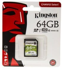 SDXC  64GB  Kingston Class 10 UHS-I (80 Mb/s) Canvas Select