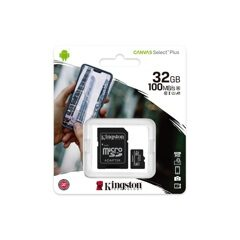 MicroSD  32GB  Kingston Class 10 Canvas Select Plus A1 (100 Mb/s) + SD адаптер
