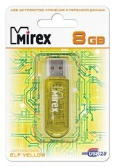 USB  8GB  Mirex  ELF  жёлтый  (ecopack)