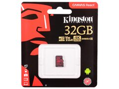 MicroSD  32GB  Kingston Class 10 Canvas Go UHS-I U3 V30 (90/45 Mb/s) без адаптера