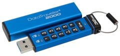 USB 3.0  32GB  Kingston  DT2000  Keypad AES Hardware Encrypted  (256bit)