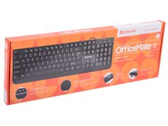 Клавиатура DEFENDER OfficeMate HM-710, USB, чёрная